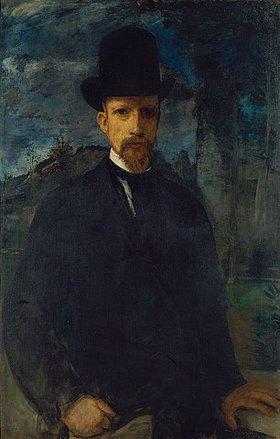 Hans von Marées: Selbstbildnis mit hohem Hut
