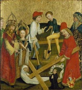 Oberrheinischer Meister: Die hl.Helena findet das Kreuz Christi