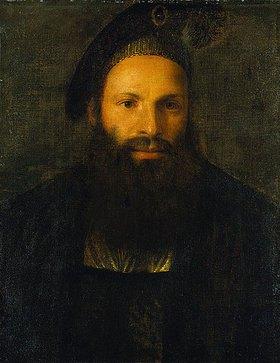 Venezianischer Meister: Bildnis des Pietro Aretino