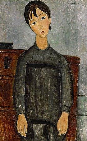 Amadeo Modigliani: Mädchen mit schwarzer Schürze