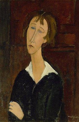 Amadeo Modigliani: Junge Frau mit weißem Kragen
