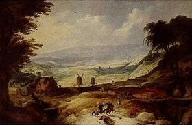 Joos de Momper d.J.: Landschaft mit zwei Mühlen