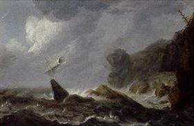 Allaert van Everdingen: Seesturm in einer Felsenbucht