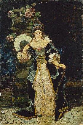 Adolphe Joseph Thomas Monticelli: La Chatelaine
