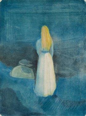 Edvard Munch: Mädchen am Strand (Die Einsame). 1896.