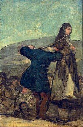 Francisco José de Goya: Hexenhinrichtung. Skizze. Nach