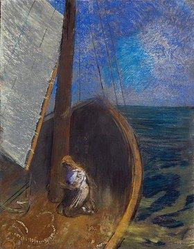 Odilon Redon: Frau in einem Fischerboot