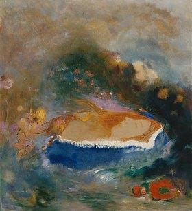 Odilon Redon: Das blaue Cape (oder: Ophelia)