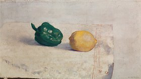 Odilon Redon: Stilleben mit Zitrone und Paprikaschote