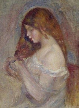 Auguste Renoir: Mädchen, mit seinen Haaren spielend