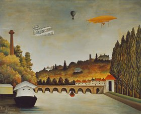 Henri Rousseau: Pont de Sevres und das Ufer von St.Cloud
