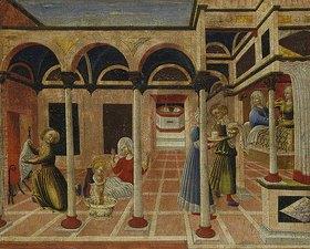 Sassetta (Stefano di Giovanni): Die wunderbare Geburt des hl. Nikolaus