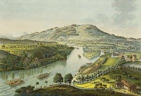 Johann Niklaus Schiel: Flusslandschaft in der Umgebung von Bern