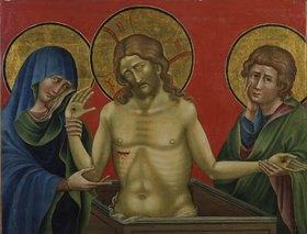 Nicoletto Semitecolo: Jesus als Schmerzensmann mit Maria und Johannes