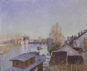 Alfred Sisley: Am Ufer des Loing in Moret