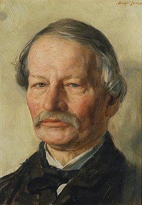 Karl Stauffer-Bern: Bildnis des Dichters Gustav Freytag