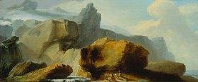Kaspar Wolf: Felsen unterhalb des Titlisgletschers