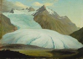 Kaspar Wolf: Der Rhônegletscher von der Talsole oberhalb Gletsch