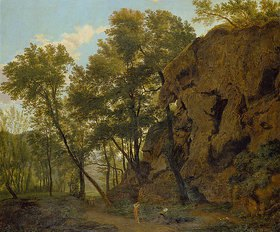 Jakob Christoph Bischoff: Waldlandschaft bei Papinio