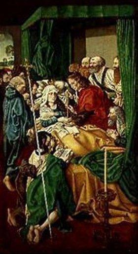 Spanien Meister von Sisla: Der Tod der heiligen Jungfrau