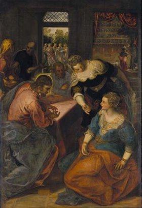 Tintoretto (Jacopo Robusti): Christus bei Maria und Martha