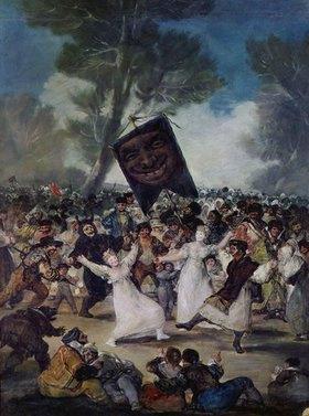 Francisco José de Goya: Karnevalsszene (El Entierro de la Sardina)