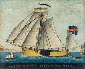 Anonym: Darstellung des Schiffes Die gute Hoffnung