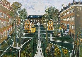 Sipke Cornelis Houtman: Der Garten des Altersheims in Amsterdam