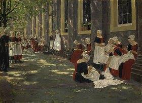 Max Liebermann: Der Hof des Waisenhauses in Amsterdam