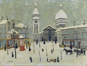 Louis Vivin: Place du Tertre im Winter