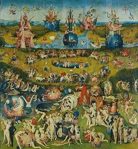 Hieronymus Bosch: Der Garten der Lüste. Mitteltafel des Triptychons