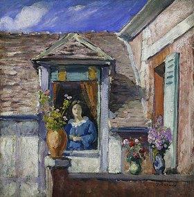 Henri Lebasque: Frau am Fenster (Femme à la Fenêtre)