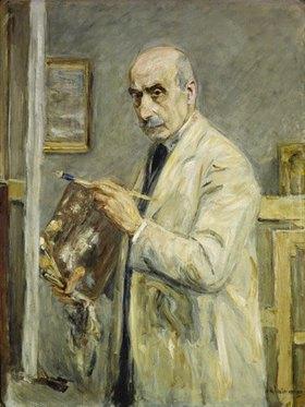 Max Liebermann: Selbstbildnis im Malerkittel
