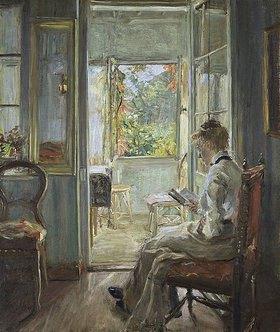 Fritz von Uhde: In der Verandatür