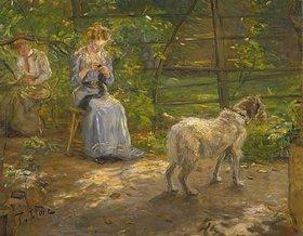 Fritz von Uhde: In der Herbstsonne