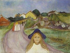 Edvard Munch: Strasse in Åsgårdstrand