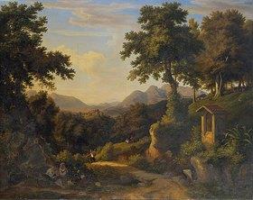 Jakob Christoph Miville: Italienische Landschaft mit Bildstock