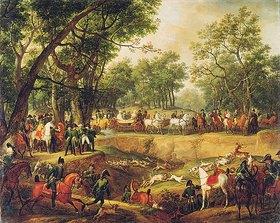 Carle (A.C.Horace) Vernet: Napoleon Bonaparte auf der Jagd im Wald von Compiègne