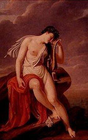 Pierre Narcisse Guérin: Sappho auf dem Felsen von Leukadia