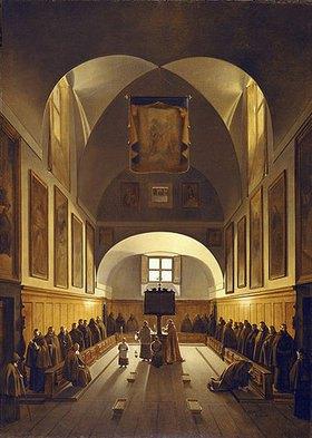 François Marius Granet: Inneres der Kapuziner-Kirche an der Piazza Barberini in Rom
