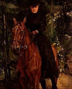 Wilhelm Trübner: Fräulein von Holzhausen zu Pferde