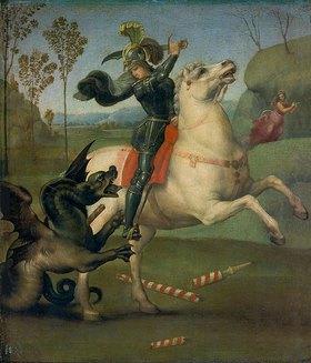 Raffael (Raffaello Sanzio): Der hl.Georg im Kampf mit dem Drachen