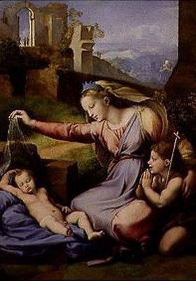 Raffael (Raffaello Sanzio): Madonna mit dem Schleier (mit dem blauen Diadem). Nach