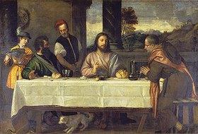 Tizian (Tiziano Vecellio): Das Mahl in Emmaus