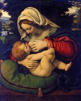 Andrea de Solario: Die Madonna mit dem grünen Kissen