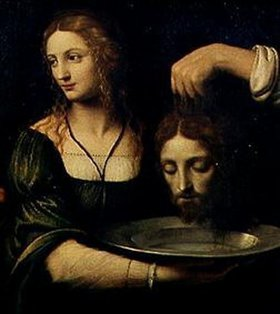 Bernardino Luini: Salome empfängt das Haupt Johannes des Täufers