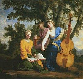 Eustache Le Sueur: Melpomene, Erato und Polyhymnia