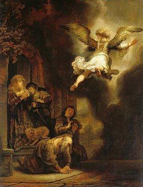 Rembrandt van Rijn: Der Erzengel Raphael verlässt die Familie des Tobias
