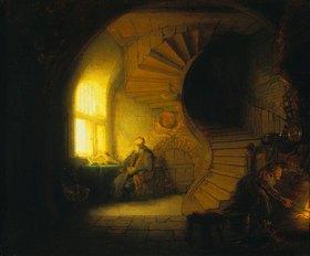 Rembrandt van Rijn: Meditierender Philosoph