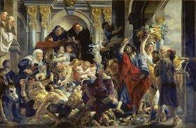 Jacob Jordaens: Jesus vertreibt die Händler aus dem Tempel